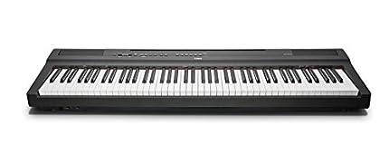 Yamaha P-125 - Piano Digital Portátil Esbelto, dinámico y potente, combinado con la tecnología más vanguardista, color negro