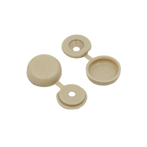 sourcingmap 50pcs 4,5mm Agujero Bisagra tapa de Tornillo Cobertura cubierta gris