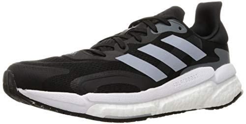 adidas Solar Boost 21 M, Zapatillas para Correr Hombre, Core Black/Halo Silver/Grey Six, 44 2/3 EU