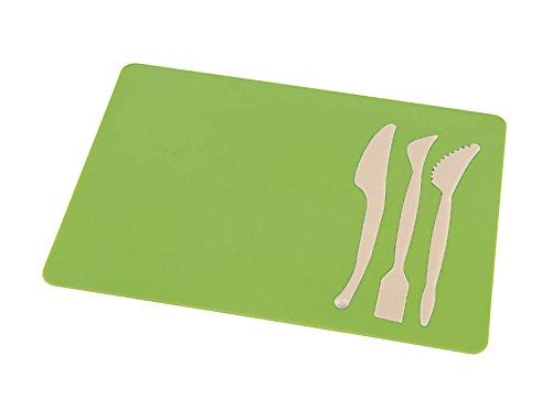 Bastelunterlage A4 mit 3-teiligen Spachtel-Set Farbe: (grün)