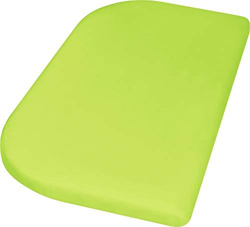 Playshoes 770325-29 Jersey-Spannbettlaken für das Beistellbett, Wasserdicht und Atmungsaktiv, 89 x 51 x 10cm, grün, grün