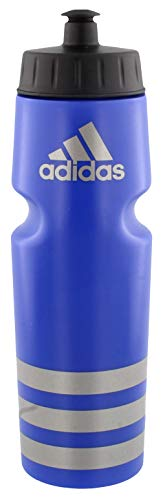 adidas Squeeze 750ML Plastic Water Bottle (28oz), Bold Blue/Silver