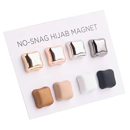 GASSDINER Bufanda Musulmana Multicolor Clips de Seda Broche de Hebilla magnética Pañuelo Hijab Clip Pin Sin Orificio Pasadores Joyas para Mujer Chica