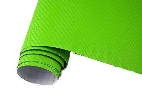 4,5€/m² Auto Folie 3D Carbon Folie - GIFT GRÜN/LIME - 100 x 152 cm BLASENFREI selbstklebend flexibel Car Wrapping