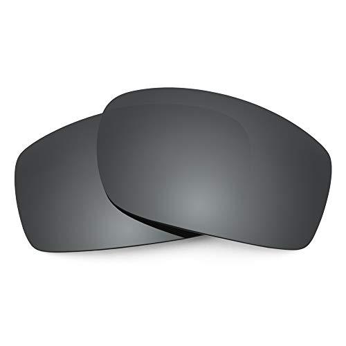 Revant Ersatzgläser für VonZipper Clutch, Polarisiert, Elite Schwarz Chrome MirrorShield
