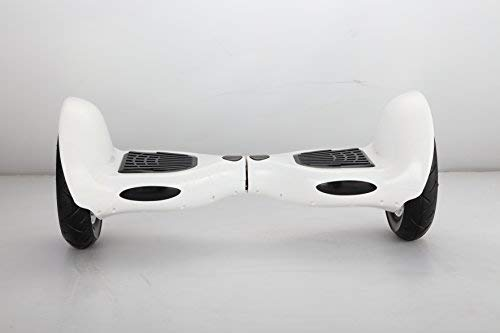 United Trade hoverboard elektrische scooter overboard balance scooter met LED & Bluetooth, twee wielen 10 inch witte wielen met UL-2272, geschenkdoos