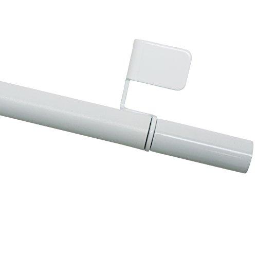 GARDINIA Klemmstange, Ausdrehbar, Montage ohne Schrauben und Bohren, Press&Go Filigrano Zylinder, Durchmesser 8/10 mm, Länge 30-50 cm, Metall, Weiß