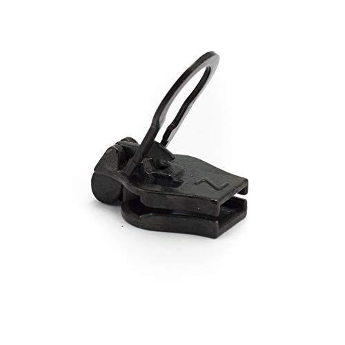 ZlideOn – Ersatz-Schieber 8A für breite Reißverschlüsse (Metall), Schwarz
