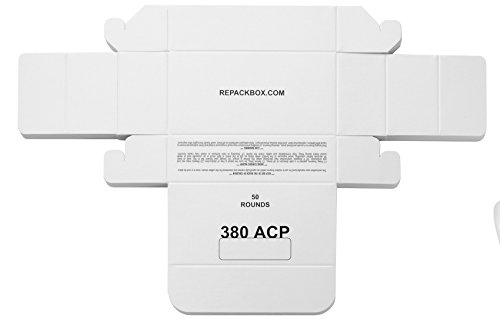 REPACKBOX - 3 Samples - 380 ACP Military Cardboard Ammo Box Holds 50 Rounds