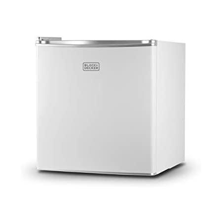 BLACK+DECKER BCRK17W Compact Refrigerator Energy Star Single Door Mini Fridge with Freezer, 1.7 Cubic Ft., White