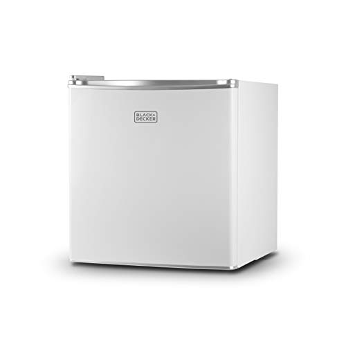 BLACK+DECKER BCRK17W Compact Refrigerator Energy Star Single Door Mini Fridge with...