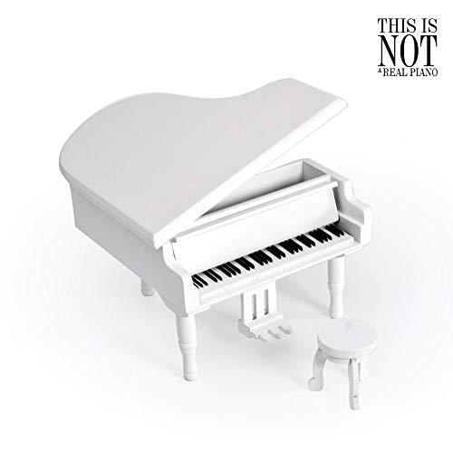 Prachtige Kleine Witte Houten Piano Muzikale Joodse Doos W. Kruk - Meer dan 400 Liedjes Keuzes