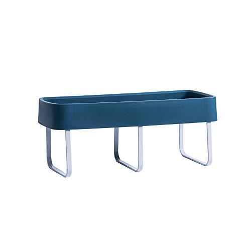ruihong Estantes De Baño Toallero Hecho De Plástico Perforado Montado En La Pared Y Aleación De Aluminio Adecuado para La Cocina del Baño (tamaño: 38 * 16 * 5cm Azul Oscuro)