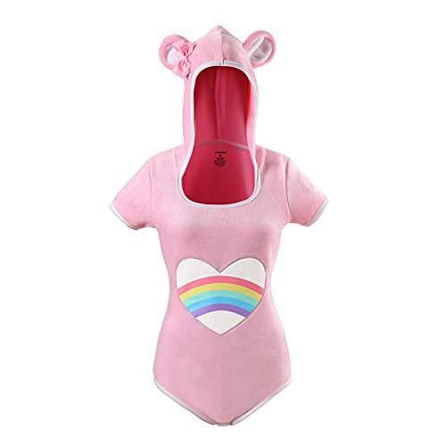 LittleForBig Algodón Pelele Onesie Pijama Traje-Teddy Bear Onesie Rosa M