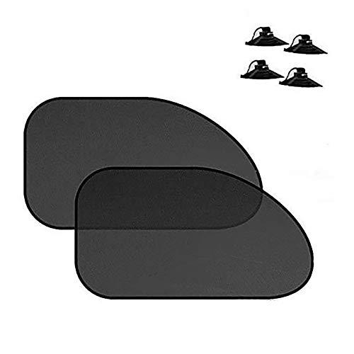 Chingde Parasol Coche, 1 par Ventana Lateral Coche, sombrilla para Ventana Lateral del automóvil,sombrilla para automóvil, Parasol Coche Trasero, bloquea UV Resplandor Solar de Calor (65x38cm)