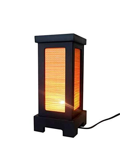Nachttischlampe aus Bambus, handgefertigt, asiatisch, orientalisch, japanisch, Bambus, für Zuhause, Schlafzimmer, Garten, Dekoration, modern