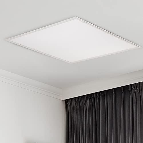 CS Light® – Premium LED Panel 60x60 cm – [40W/230V] Neutralweiß [4000 K] – LED Deckenleuchte flach für Büro, Wohnzimmer, Flur & Küche – Lebensdauer [35.000 Stunden] - Energieklasse A+