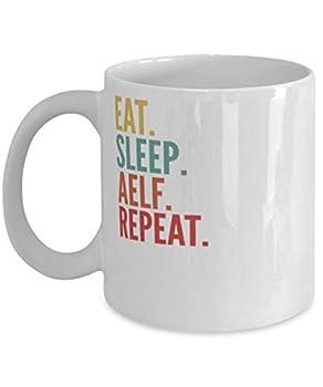 Aelf Crypto Eat Sleep Aelf Repeat Mug 11oz white