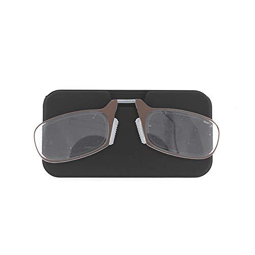 HSDCK leesbril neus rusten knijpen geen tempel mini-kaart type vouwbare leesbril voor mannen en vrouwen