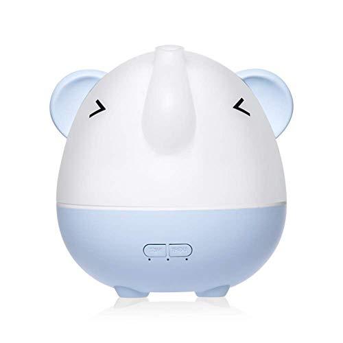 WJH9 Enfriar 350 ml Elefante humidificador Vapor, 7 Colores de luz, sin Agua ultrasónico Aire Humidificadores Apagado automático para hogar, Dormitorio, Oficina, Viajes Coche,Azul