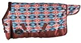Showman Pony/Yearling 48'- 54' Waterproof & Breathable Orange & Turquoise Southwest Print 1200 Denier Turnout Blanket! New Horse TACK!
