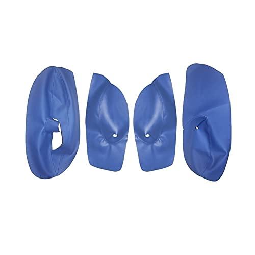 Morning 4 Puertas Puertas de Cuero Azul Suave Puerta Cubierta de reposabrazos para VW Golf 4 Mk4 Bora Jetta 1999-2005 Cubierta de la Cubierta del reposabrazos de la Puerta del automóvil