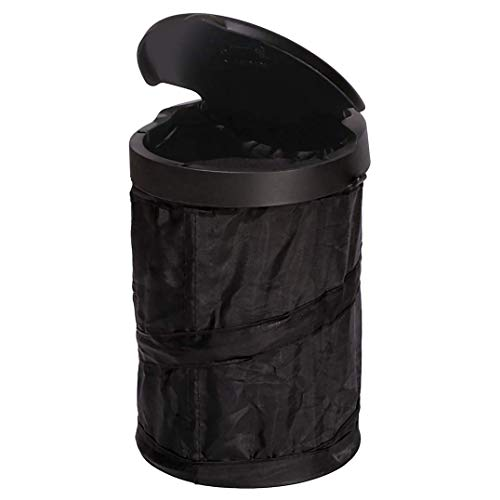 Rubbermaid Automotive Pop Up Trash Can with Flip Top Lid: Hanging Car Garbage Bin/Waste Basket Organizer Caddy