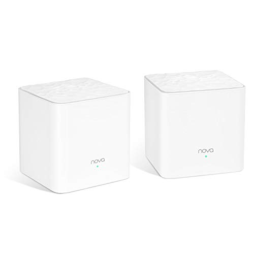 Tenda Nova MW3 Mesh - Router Sistema Wifi De Red En Malla (2 Pack, AC1200, Dual band, Plug And Play, Mu-Mimo)