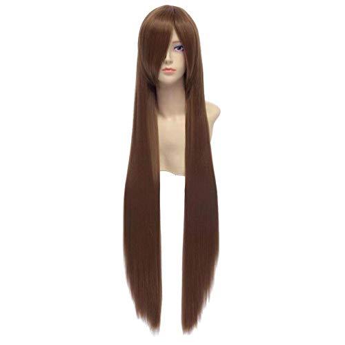 Longue ligne droite perruque Anime Cosplay perruques de parti de cheveux de HongHu Fashion New Brown