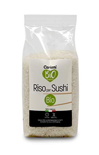 Carioni Food & Health Riso originario per Sushi, bio, 500g (Confezione da 10 Pezzi)