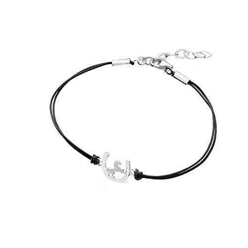 Pulsera Infinity para mujer de plata 925 con cordón, joya para mujer, de Bransoletka Damska, pulsera con colgante de batalla de plata, joya para niñas y mujeres,