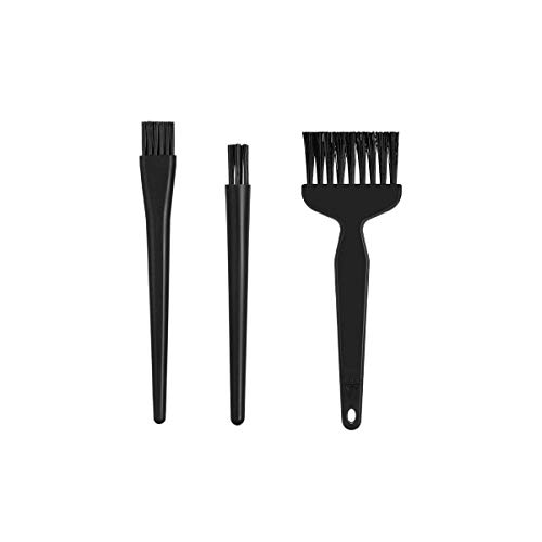 Spazzole antistatiche 8 in 1 per computer, kit di pulizia elettronica della polvere manico portatile in nylon anti statico spazzole per la pulizia della casa (nero)