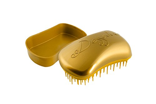 Dessata 1111MINI - Cepillo para cabello, sin tirones, sin roturas, rápido y fácil, color oro