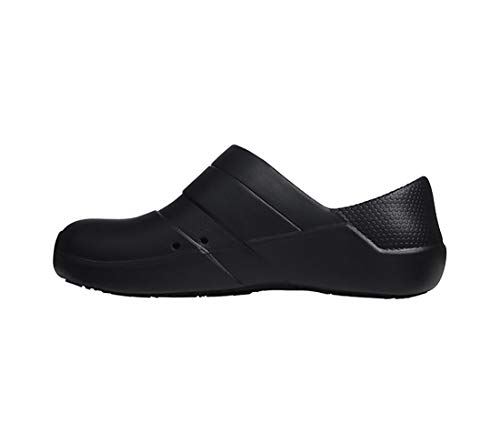 Anywear Journey Women's Healthcare Professional Injected Medical Slip on, 6, Black