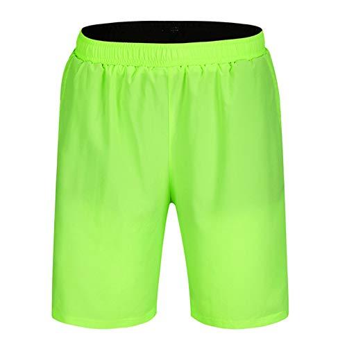 Pantalones Cortos De MTB para Hombres,3D Gel De Sílice Acolchado Pantalon Bici,Secado Rápido Transpirables Sueltos Culotte Ciclismo con Bolsillos,para Montaña DEPO(Size:XXL,Color:Verde Fluorescente)