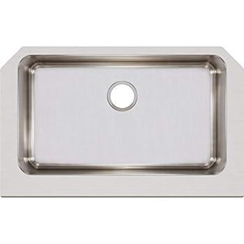 Elkay ELUHFS2816 Lustertone Classic Single Bowl Farmhouse Stainless Steel Sink