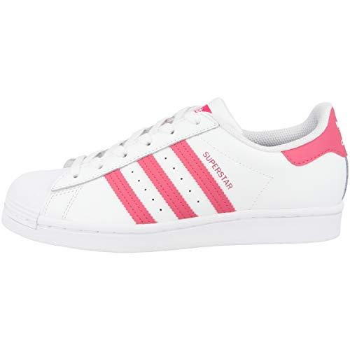 adidas Zapatillas unisex para niños Superstar J., color Blanco, talla 40 EU