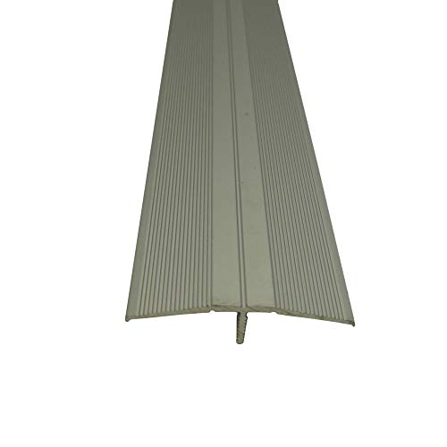 Praktikus 5102220 46x15mm Übergangsprofil Clip-System, Silber