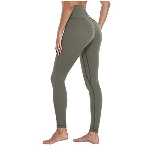 xiaogui Pantalones De Yoga De Cintura Alta para Mujer Leggins Push Up Mujer Pantalones Cintura Alta Yoga Mallas de Deporte de Mujer Elástico Deportivas Pantalon Mujeres para Running Gym Fitness