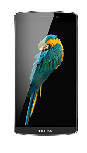 TP-Link Neffos C5 Max 4G LTE Smartphone (13,97 cm (5,5 Zoll) Display, 16 GB Speicher, Octa-Core Android 5.1), Grau (Shwarz/Dunkelgrau)