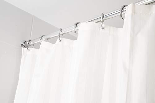 Croydex Textil-Duschvorhang mit gewebtem Streifenmuster, Elfenbein
