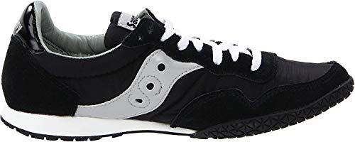Saucony womens Bullet Sneaker, Black/Silver, 6.5 M US