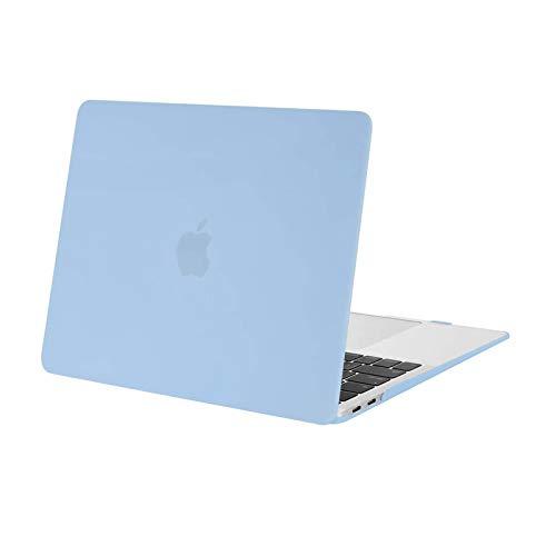 MOSISO Hülle Kompatibel mit 2020 2019 2018 MacBook Air 13 A2337 M1 A2179 A1932 Retina Bildschirm, Plastik Hartschale Hülle Cover Nur Kompatibel mit MacBook Air 13 Zoll mit Touch ID, Air Blau