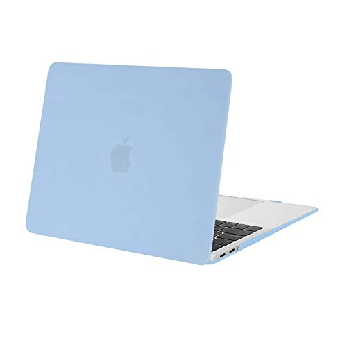 MOSISO MacBook Air 13 inch Case 2020 2019 2018 Release A2337 M1 A1932 A2179 Retina Display, Plastic Hard Case Shell Cover Only Compatible with MacBook Air 13 inch with Touch ID, Airy Blue