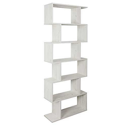 RICOO WM070-EP Estantería 192x70x25cm Estante Librería Moderna Biblioteca Muebles de hogar Mueble almacenaje 6 Niveles Madera Roble marrón