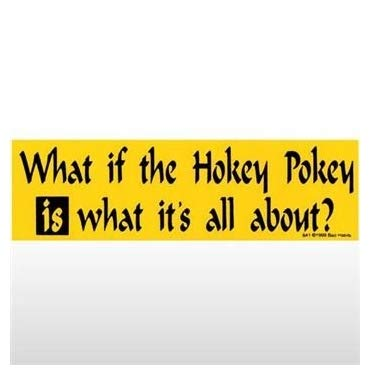 Hokey Pokey is What It's About Bumper Sticker - Waterproof Vinyl Decal for Laptop Phone Skateboard Travel Case Guitar Bicycle