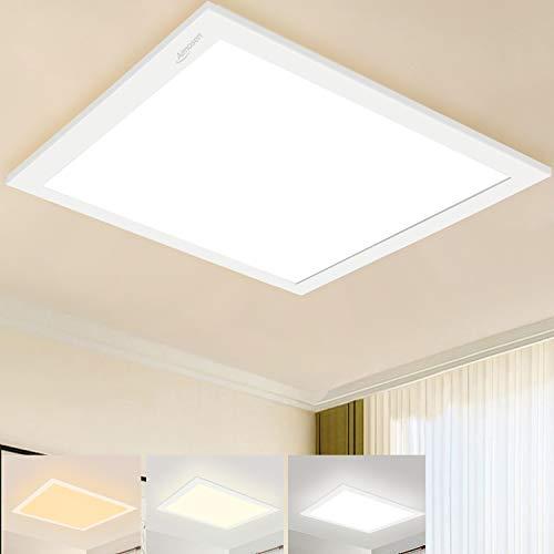 Dimmbar LED Deckenleuchte Panel 30x30 cm, Quadrat Unterputz Deckenlampe mit Fernbedienung, 2700K-6500K Farbtemperatur WarmWeiß Neutralweiß KaltWeiß Licht Bürolampe Werkstatt Garage Wohnzimmerlampe