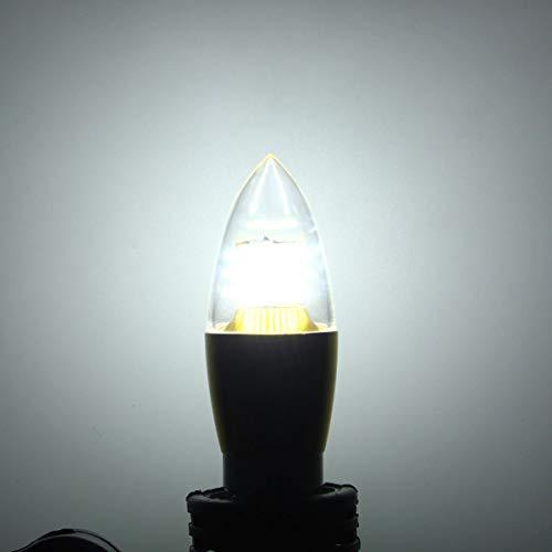 Lighting Light Bulbs bulb Dimmable E27 E14 E12 7W 60 SMD 3014 LED Pure White Warm White Candle Light Lamp Bulb AC110V LED Bulbs Halogen Bulbs Zzzb (Color : E12, Size : Pure white)
