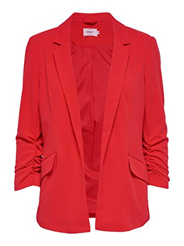 Only Onlcarolina Diana 3/4 Blazer CC TLR, Rosso (High Risk Red High Risk Red), 44 (Taglia Produttore: 38) Donna