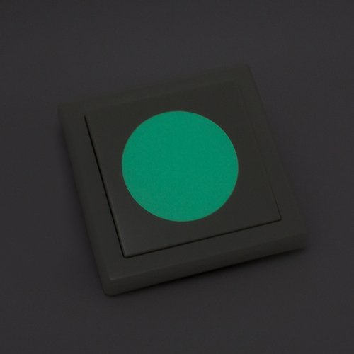 WANDKINGS Leuchtaufkleber für Lichtschalter / 8 Punkte/im Dunkeln Leuchtend